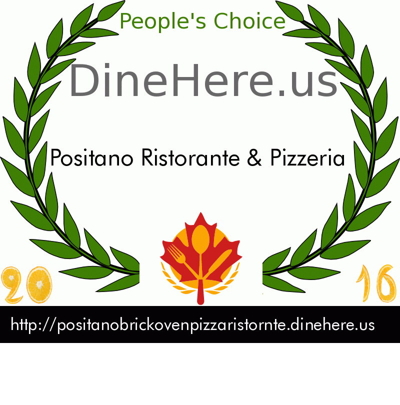 Positano Ristorante & Pizzeria DineHere.us 2016 Award Winner